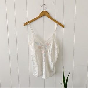 Vintage Lace Embroidered Cami